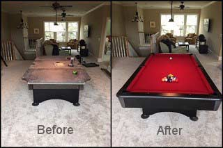 Expert pool table repair in South Lake Tahoe